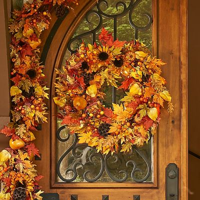 Autumn Harvest Fall Wreath-26""