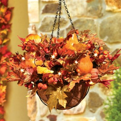 """Autumn Harvest Hanging Basket-20"""""""