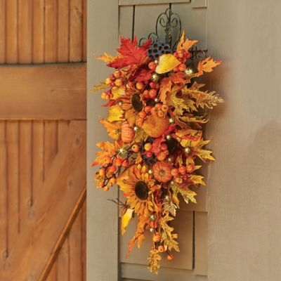 Autumn Harvest Fall Swag-28""
