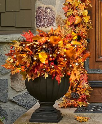 Autumn Harvest Urn Filler Fall Decoration-24""