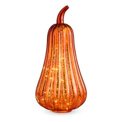 Pre-Lit Mercury Glass Pumpkins