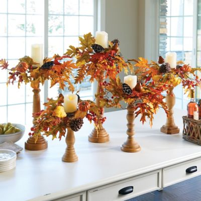 Adjustable Autumn Harvest Candle Ring Fall Decoration