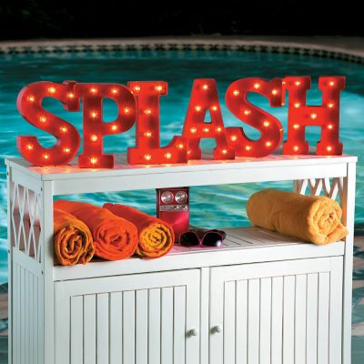 Splash Marquee Letter Sign