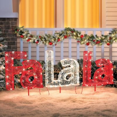 Fa-La-La Lighted Outdoor Christmas Decoration