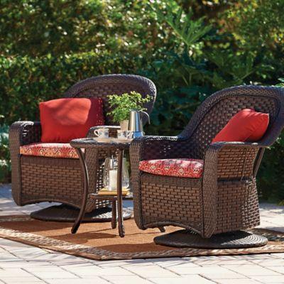 Havana 3 Piece Swivel Chair and Table Set