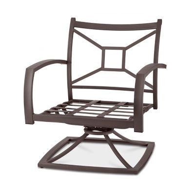 Ellicott Metal Deep Seat Swivel Chair
