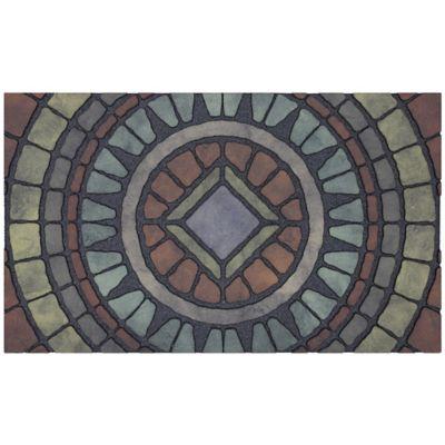 Compass Stone Outdoor Rubber Door Mat