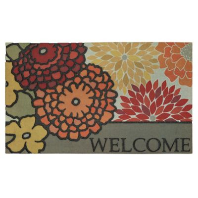 Modern Bouquet Outdoor Rubber Door Mat