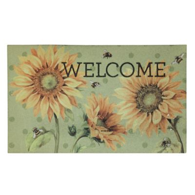 Sunny Bees Outdoor Rubber Door Mat