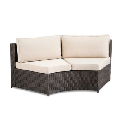 Marbella Curved Sectional Outdoor Love Seat