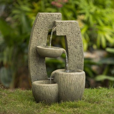 Abstract Tier Bowl Outdoor Fountain