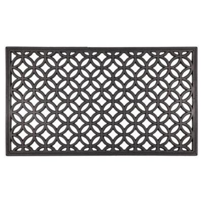 "Circle Chains Rubber Door Mat-16""x28"""