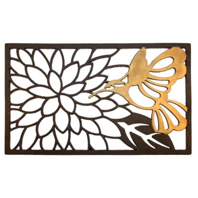 "Hummingbird Rubber Door Mat-18"" x 30"""