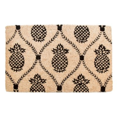 "Pineapple Trellis Coir Door Mat-22"" x 35"""