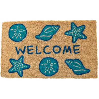 "Shells Welcome Coir Mat-18"" x 30"""