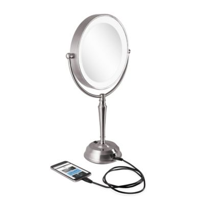 Lighted Vanity Mirror with USB Port