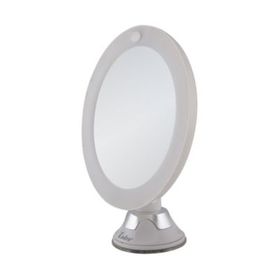 Power Suction Cup Lighted Mirror-10x