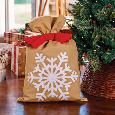 Christmas Snowflake Canvas Gift Bag