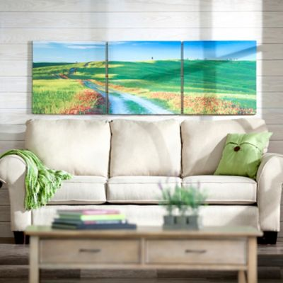 Country Road Triptych Canvas Prints