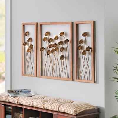 Garden Rose Metal Wall Panels