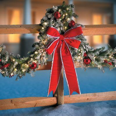Big Outdoor Christmas Bow