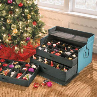 3-Drawer Christmas Ornament Storage Chest