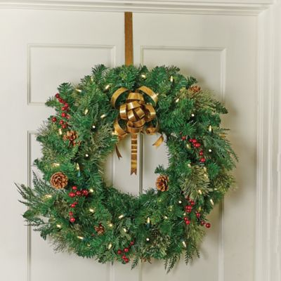 Gold Metal Over the Door Christmas Wreath Hanger