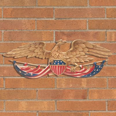 Patriotic Eagle Outdoor Wall Decor-24""