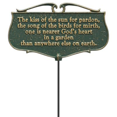 Garden Poem Sign-The Kiss of the Sun