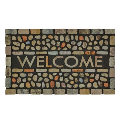 Pebble Brook Outdoor Rubber Door Mat