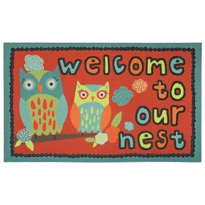 Owl Nest Outdoor Rubber Door Mat