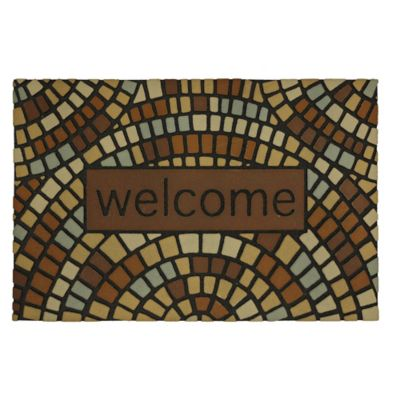 Roman Walk Welcome Outdoor Rubber Door Mat