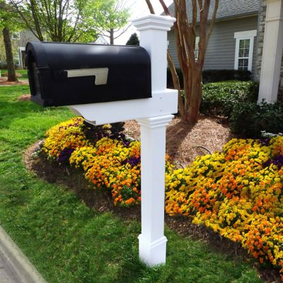 Classica Mailbox Post with No-Dig Steel Pipe Anchor
