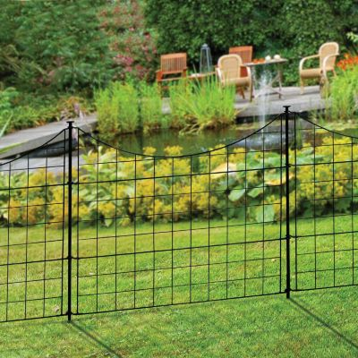 Metal Garden Staked Fence-5 Piece