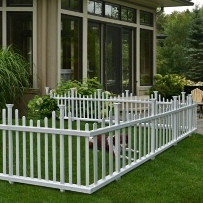 Madison No-Dig Vinyl Picket Fence-2 Piece