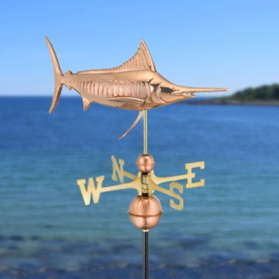 Polished Copper Marlin Weathervane