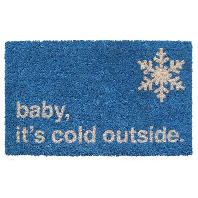 Baby It's Cold Coir Door Mat