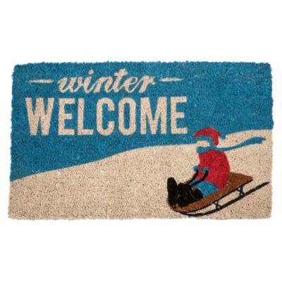 Winter Welcome Coir Door Mat