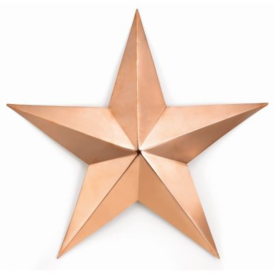 Polished Copper Barn Star Wall Decor