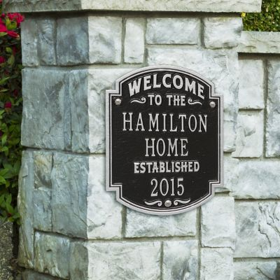 Personalized Heritage Welcome Wall Plaque