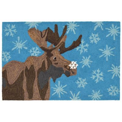 Moose and Snowflake Outdoor Rugs