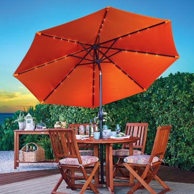 9' Color Changing Solar Lighted Umbrella