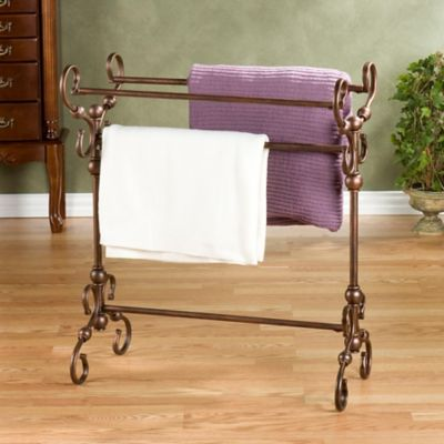 Lourdes Metal Blanket Rack