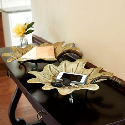 Leaf Decorative Trays-Set of 2