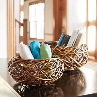 Bird's Nest Willow Basket-Set of 2
