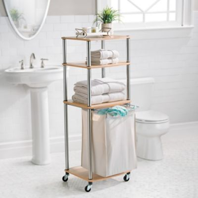 Rolling Clothes Hamper and Storage Cart
