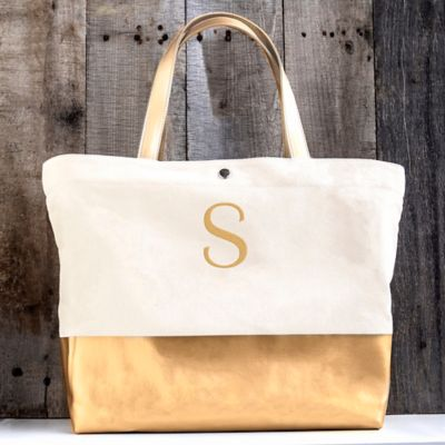 Personalized Metallic Tote Bag