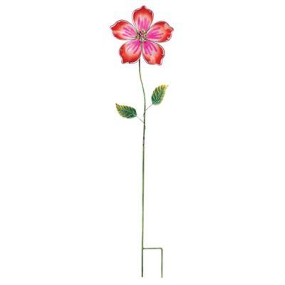 Hibiscus Flower Garden Stake