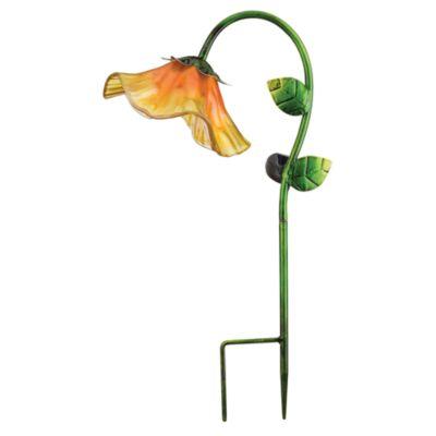 Solar Bell Flower Garden Stake