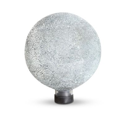 Translucent Mosaic Gazing Ball and Cap light